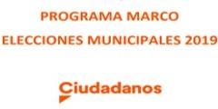 PROGRAMA MARCO ELECCIONES MUNICIPALES 2019