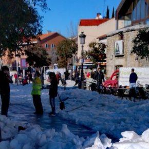 Ciudadanos agradece el esfuerzo que los operarios municipales están realizando para dejar las calles de Torrelodones transitables